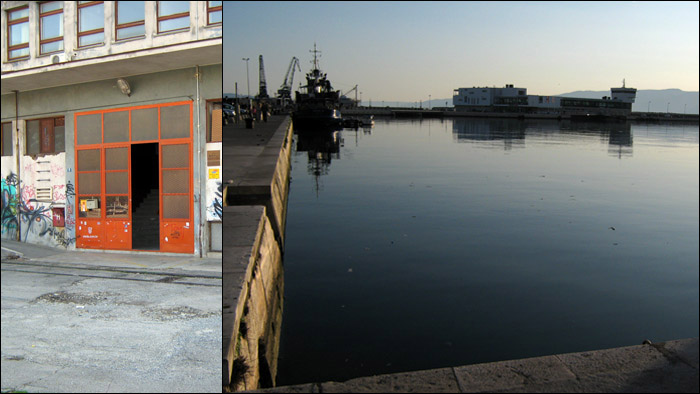 Podrum, the venue where we played, in the docks of the harbour